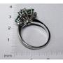 Ring in white gold 18k.