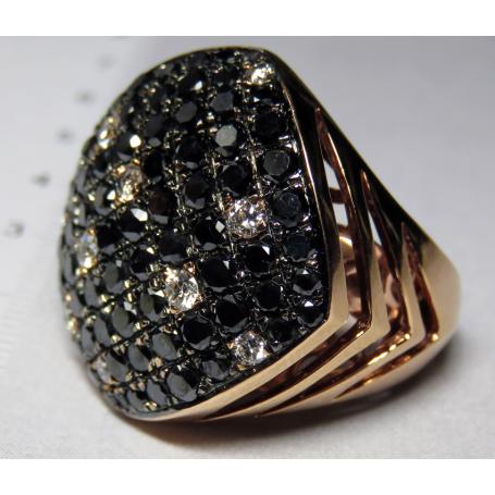 Bague en or rose 18 carats.