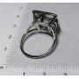 Ring, in platinum.