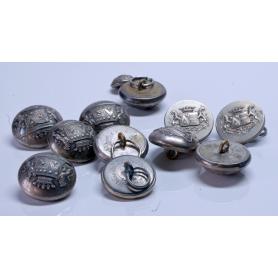 Morea de 12 botóns do abrigo ou chaqueta. Francia, século XIX.