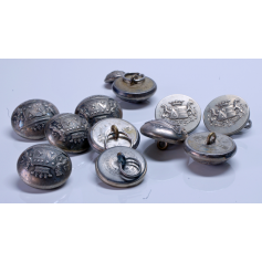Lot of 12 buttons of coat or jacket. France, XIX century.