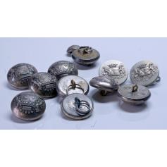 Lotto di 12 bottoni del cappotto o una giacca. Francia, XIX secolo.