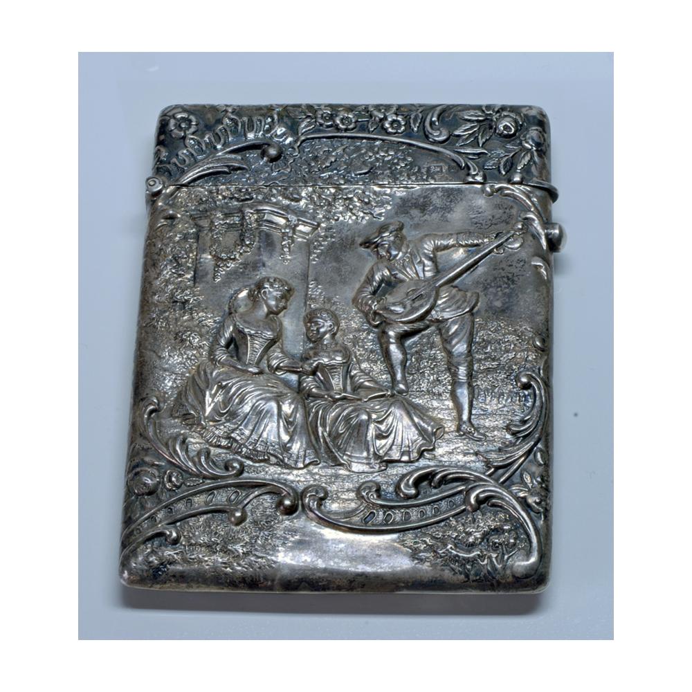 a78c640305 Pitillera en plata de ley. Inglaterra