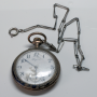 "Rellotge de butxaca nouveau Longines amb ""châtelaine"", ca. 1900."
