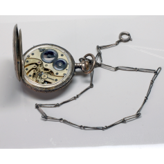 "Pocket watch nouveau Longines with ""châtelaine"", ca. 1900."