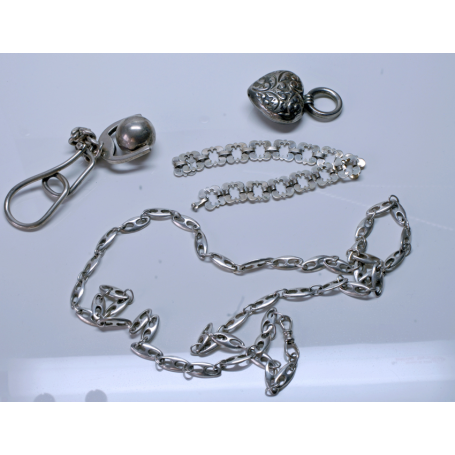 Lot of loose parts. Sterling silver.
