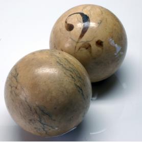 Un paio di palle da biliardo Placcato. Il XIX secolo.