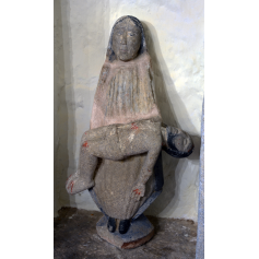 Figure of virgin in stone