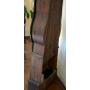 Asistir preludio en madeira policromada.