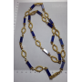 Collar choker necklace in yellow gold of 18 k.
