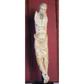 Skulptur von Christus in elfenbein. S: XIV