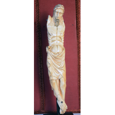 Scultura di Cristo in avorio. S: XIV