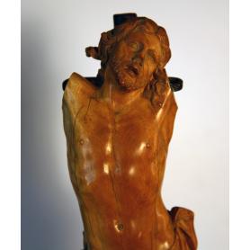 Scultura di Cristo in avorio scultura fiamminga. S: XVII
