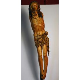 Skulptur von Christus in elfenbein. S: XVI