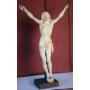 Skulptur von Christus in elfenbein. S: XIX