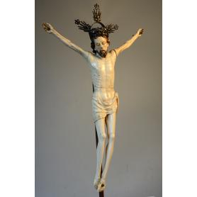 Escultura de Crist d'ivori. S: XVII