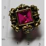 Ring in silber mit aussicht auf goldene gesetz