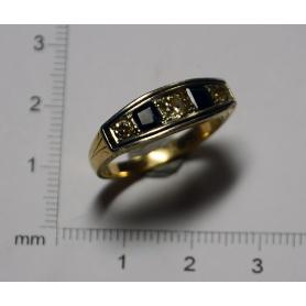 """Ring """"Belle Epòque"""" in gold-gelb - gesetz"""
