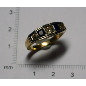 "Ring ""Belle Epòque"" in yellow gold of law"