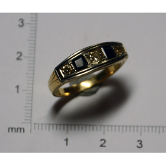 "Ring ""Belle Epòque"" in gold-gelb - gesetz"