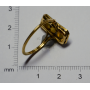 "Ring-shuttle ""Belle Epoque"" in gold"