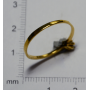 Anel de xoias en ouro amarelo 375/1000 mm