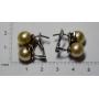 Boucles d'oreilles en or blanc de loi