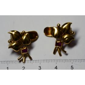 Set di orecchini in oro giallo