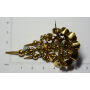 Agulla de pit-agulla de filigrana decoratius Alfonsina en or