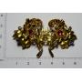 Agulla de pit-agulla en forma d'un ram de flors, floral en or