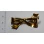 Broche en forme d'aiguille en forme de laçage en or
