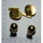 2 paires de boutons de manchette homme