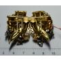Agulla de pit amb clip dobles d'or