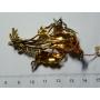 Broche-agulla de ouro amarelo