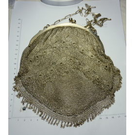 Crossbody-tasche in mesh silber
