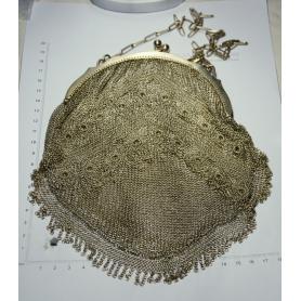 Tote bag in mesh, silver