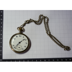 Rellotge de butxaca lepine amb leontina en plata