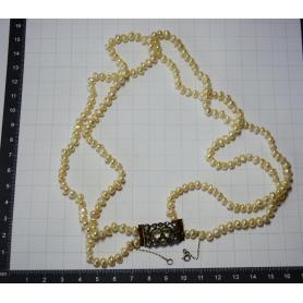 Collana matinée con perle barocche