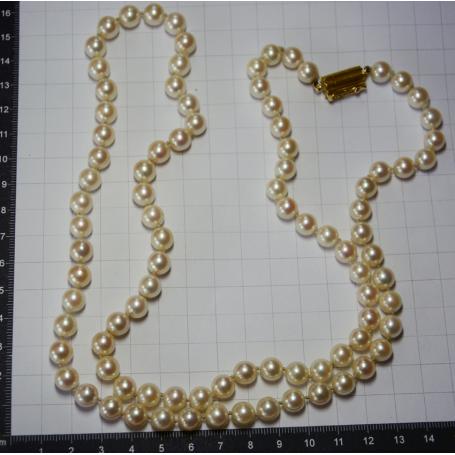 Halskette matinee mit perlen der südsee