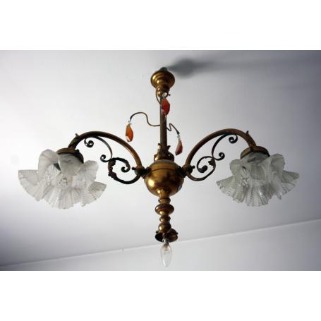 Ceiling lamp in golden bronze