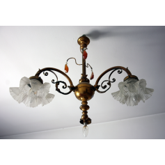 Ceiling lamp in golden bronze