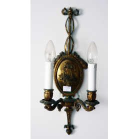 Parell de paret Sconces en bronze