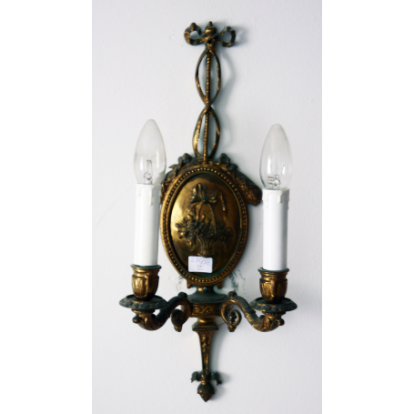 Couple of wall Sconces in bronze