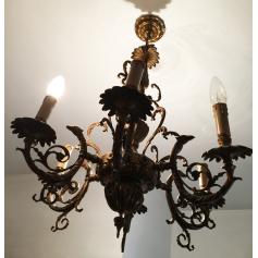 Lampe de plafond en bronze doré