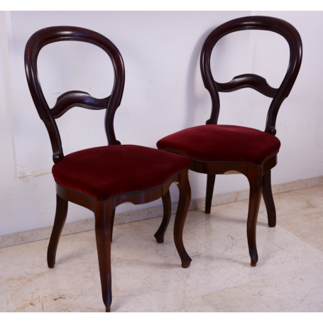 Couple of chairs elizabethan wood