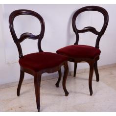 Couple de chaises de style élisabéthain bois