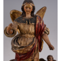 Figure of the Archangel on carved wood