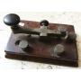 Antigo telégrafos clave morse orixinal
