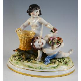 Figur porzellan dekoriert, die italienische