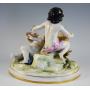 La figura de porcellana decorada italià